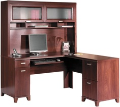 Awesome L Shaped Desk With Hutch By Bush Furniture   1 800 508 2890