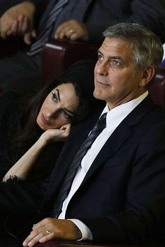 How Your Favorite Celebrities Chilled Over Memorial Day Weekend #refinery29  http://www.refinery29.com/2016/05/112316/celebrities-memorial-day-2016#slide-4  If only we could trade places with Amal Clooney, resting on George Clooney's shoulder during a Pontifical Foundation seminar at the Vatican....