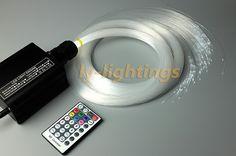 82.99$  Buy now - http://ali9j9.worldwells.pw/go.php?t=32546170499 - Mini fiber optic light kit optical fiber celing light RGB+W 16W led light source+ 200pcs fibre for bar/shop/room/home decoration 82.99$