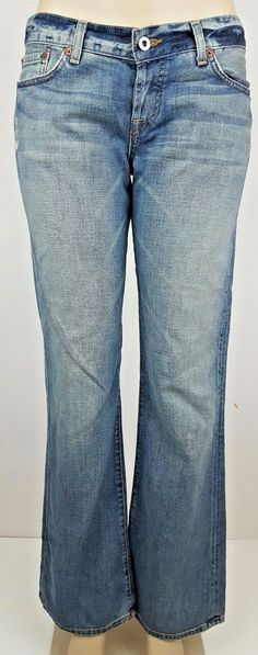 21338470ea4 Lucky Brand Button Fly Sweet Dream Women's Boot Cut Jeans Sz 8 32 x 33 USA  Made #LuckyBrand #BootCut. The Trading Depot
