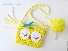 """Купить Детская сумочка """"Совушка"""" - желтый, однотонный, сумочка, сумочка ручной работы"""