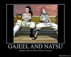 So funny. Gajeel and Natsu...