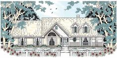 Eplans Country House Plan - Classic Country Style - 2018 Square Feet and 4 Bedrooms from Eplans - House Plan Code HWEPL11386