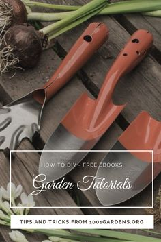 Check out our Step-By-Step Printable garden PDF tutorials that are available FOR FREE! You will learn how to: landscaping with rocks, grow tomatoes upside Cheap Paving Ideas, Garden Trowel, Garden Tools, Pallets Garden, Pallet Gardening, 7 Months Baby Food, Patio Slabs, Easy Garden, Garden Ideas