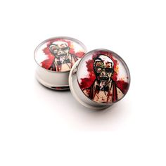 Zombie Picture Plugs Style 10 gauges - 00g, 7/16, 1/2, 9/16, 5/8, 3/4,... ($20) ❤ liked on Polyvore