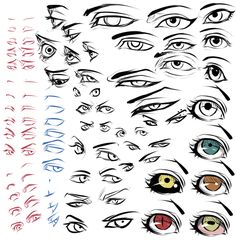 eyes ✤ || CHARACTER DESIGN REFERENCES | キャラクターデザイン • Find more at https://www.facebook.com/CharacterDesignReferences if you're looking for: #lineart #art #character #design #illustration #expressions #best #animation #drawing #archive #library #reference #anatomy #traditional #sketch #development #artist #pose #settei #gestures #how #to #tutorial #comics #conceptart #modelsheet #cartoon || ✤