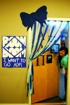 Love the poster and door decoration