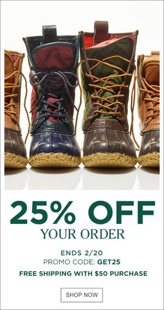 Save on the newest spring styles, L.L.Bean classics and more. Offer ends Tuesday, 2/20. Shop now.