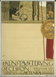 Poster of the 1st Secession Exhibition, Vienna, 1898. @designerwallace