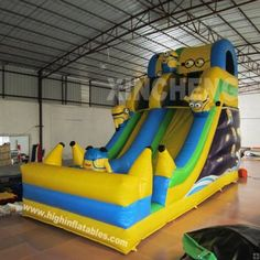 Inflatable minions slide