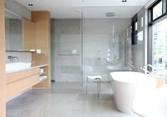 Curbless shower - perfect for multi-generational homes!