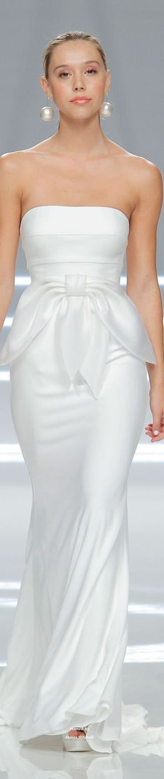 Rosa Clará Spring 2017 white dress @roressclothes closet ideas #women fashion outfit #clothing style apparel