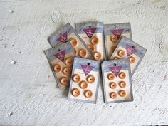 Butterscotch Vintage Buttons on Original by cattales
