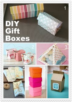 DIY Gift Boxes.  These lack refinement but do nevertheless represent the best part of favor boxes:  unlimited personalization possibilities.