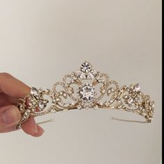 ELIZABETH RHINESTONE CROWN A classic princess crown, Elizabeth is designed intricately with scrolls of crystals that sparkle from all angles. Lightweight for easy day to night wear. Bridal Crown, Bridal Tiara, Wedding Jewelry, Wedding Veils, Bridal Headpieces, Wedding Tiaras, Wedding Hair, Wedding Crowns, Gold Tiara