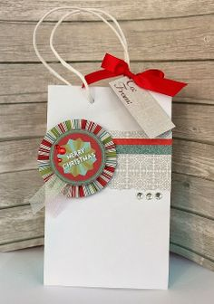 Christmas gift bag decorations