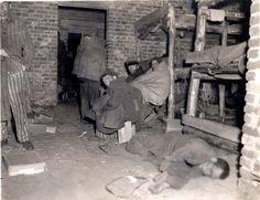 Wobbelin, Germany, 05/05/1945, Survivorss in a barrack.