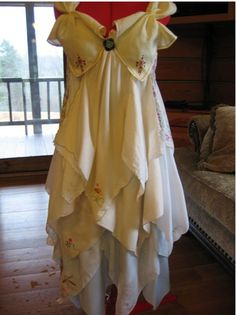 This prom dress is made from recycled hankerchiefs and is for sale on Etsy. It's $325.