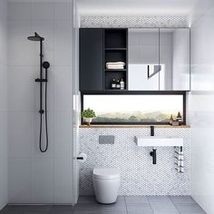 The perfect compact bathroom, with a view!