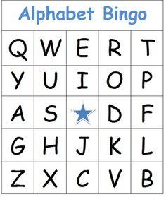 Free Printable Alphabet Bingo Preschool