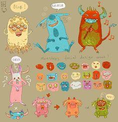 random monsters by Clo - Aurelie Neyret - CGHUB