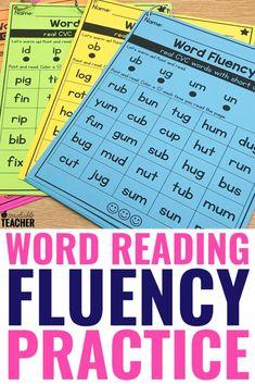 Reading Fluency, Reading Intervention, Kindergarten Reading, Reading Skills, Teaching Reading, Word Reading, Reading Response, Reading Passages, Reading Strategies