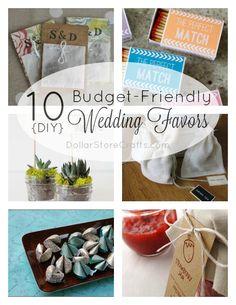 10 DIY Wedding Favors on a Budget