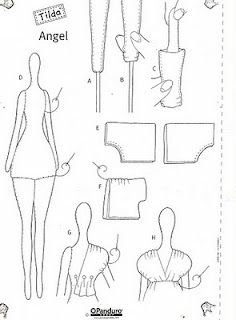 33 New Ideas For Baby Crafts Clothes Free Pattern Doll Crafts, Baby Crafts, Diy Doll, Doll Clothes Patterns, Doll Patterns, Fabric Dolls, Paper Dolls, Tilda Toy, Doll Tutorial