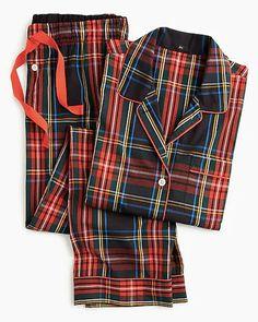 Shop J.Crew for the Vintage pajama set in Stewart black tartan for Women. Find the best selection of Women Sleepwear & Loungewear available in-stores and online. Satin Pyjama Set, Pajama Set, Pajama Party, Pajamas For Teens, Women's Pajamas, Flannel Pajamas, Tweed, Pijamas Women, Stewart Tartan