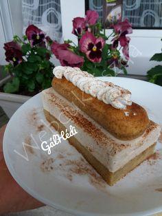 Tiramisu krémes szelet Tiramisu, Vanilla Cake, French Toast, Breakfast, Food, Candy, Morning Coffee, Essen, Meals