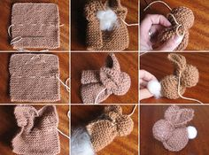 Easy Project: Knitted Bunnies