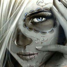 Art chicano art, chicano tattoos, sugar skull artwork, sugar skulls, body a Chicano Tattoos, Chicano Art, Body Art Tattoos, Tatoos, Sleeve Tattoos, Gangsta Tattoos, La Muerte Tattoo, Catrina Tattoo, Sugar Skull Mädchen