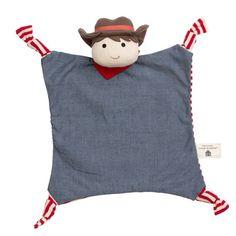 Custom Embroidered Organic Cotton Farm Buddy Blanket Toy