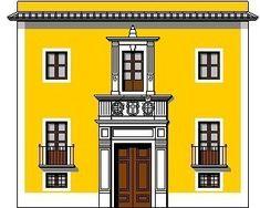 """casa de la cruz /de la Canal -perteneció a la familia de la Canal, conocida en Murcia como """"Casa de la Cruz"""", ocupaba el solar donde en la actualidad comienza la Gran Vía, la fachada principal (la del dibujo) daba a la calle Pareja, ya desaparecida, el lateral izquierdo a la explanada del Puente Viejo (ver en vistas), y el derecho a la calle Frenería; en los bajos de esta última hubo una zapatería conocida como """"Los Techos Bajos"""". Su último poseedor fue Pilar de la C"""
