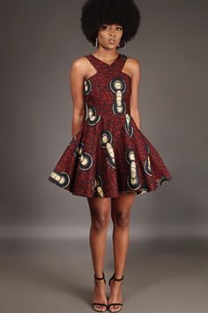 Paired with your cutest pair of heels, look ravishing in the Anathi Criss-Cross dress. Buy the latest Afrocentric women& fashion at Kuwala. Best African Dresses, African Print Dresses, African Attire, African Fashion Dresses, African Wear, African Style, Ghanaian Fashion, Ankara Fashion, African Prints