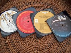 repurposing vinyl records | Repurposed Vinyl record coasters by recyclemania on Etsy, $12.00