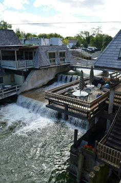 Right down the road from one of my favorite places in the world :) Falling Waters Hotel in Leland Michigan. View from room303.