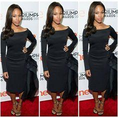 Nicole Beharie wears Ludmila Corlateanu Black Neoprene cocktail dress to the 2015 Triumph Awards. #ThisIsWhatIDo #myClientsRule #fashion #fashionista #style #bosslady #sleepyhollow #ForSuperGirls #black #cocktail #dress #sleeyhollowfox #fox #brooklynpr_la #brooklynpr #brooklynpr_la_rentals