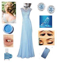 """Cinderella"" by kattheballetqueen on Polyvore featuring Miadora, Lime Crime, Charlotte Tilbury, Pop Beauty, Blue, disney, choker and Disneyprincess"