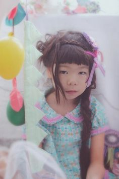 fäfä Japanese kids fashion trends with retro styling in pattern and texture and bubblegum colours.