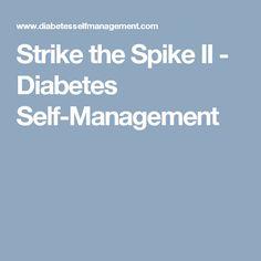 Strike the Spike II - Diabetes Self-Management