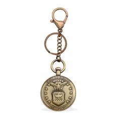 Air Force Keychain in Brasstone   Accessories-Keychain   Accessories   Online Store   Liquidation Channel Site