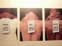 Labels are for clothing, not people.