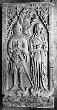 Grabplatte des Ehepaars Heinrich d. J. Beyer von Boppard und Lisa von Pyrmont