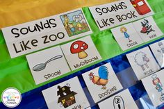 Sounds of OO Sort for Teaching Vowel Teams