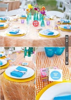 colorful table decor ideas | CHECK OUT MORE IDEAS AT WEDDINGPINS.NET | #wedding