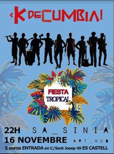 """Banda de cumbia local dirigida por Alon Celnik, con un repertorio principalmente de clásicos colombianos. KdeCumbia se formó hace dos años impulsada por las tremendas ganas de hacer bailar a la gente esta música linda! Tocarán algunos temas muy conocidos y otros menos, como """"Yo me llamo cumbia"""" o """"Viene de mi"""". Art Hub, Tropical Party, Sash"""