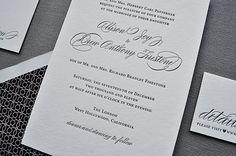 formal letterpress invitations