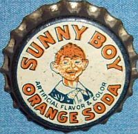 Sunny Boy Orange Soda, bottle cap | Wilkes-Barre, Pennsylvania USA | Cap used 1930-1939 | One sold on eBay 2/2013 for $78.00