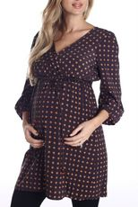 For all my pregnant friends out there.  This website has cute clothes Charcoal Floral Belted Maternity Tunic Top